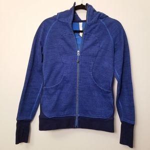 Lululemon Size 6 Blue scuba Zip Hoodie Sweatshirt